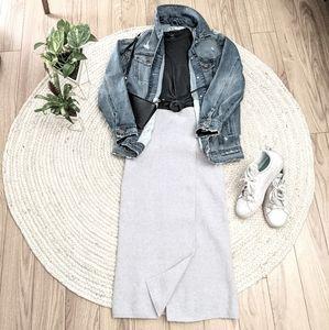 Babaton Aritzia Midi Wrap Skirt